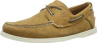 Timberland Newmarket FTB_EK Newmarket LP Ox 6533R - Zapatillas de cuero para hombre, Amarillo (Jaune (Wheat)), 40