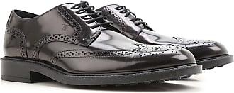 Zapatos con Cordones para Mujer, Oxfords, Zapatos Calados Baratos en Rebajas, Mostaza, Charol, 2017, 36 40 Tod's