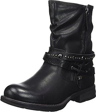 Tom Tailor 3795004, Bottes Motardes Femme, Noir (Black), 39 EU