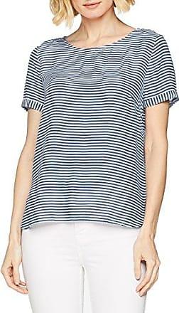 Tom Tailor Easy Spring Blousetop, Blusa para Mujer, Azul (Real Navy Blue1 6975), 40 (Talla del Fabricante: 38)