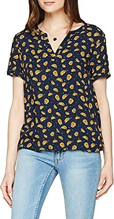 Tom Tailor Summerly Fruit Print Blouse, Blusa para Mujer, Azul (Real Navy Blue1 6975), 40 (Talla del Fabricante: 38)