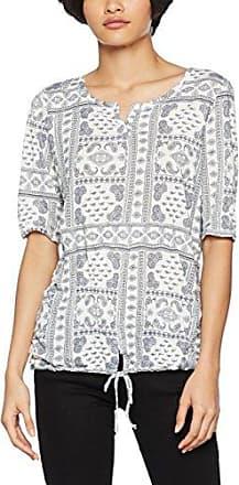 Tom Tailor Alloverprinted Crinkle Shirt, Camiseta para Mujer, Azul (Real Navy Blue1 6975), XXX-Large