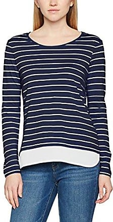Tom Tailor Lovely Striped Sweater, Sudadera Mujer, Azul (Real Navy Blue), 34 (Talla del Fabricante: X-Small)