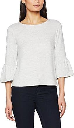 Tom Tailor Denim Long V-Neck Sweater, Suéter para Mujer, Beige (Marble Beige Melange 8711), Large