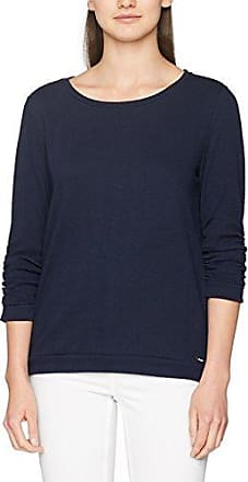 Cosy Oversize Sweat, Pull Femme, Bleu (Real Navy Blue 6593), 40 (Taille Fabricant: Large)Tom Tailor Denim