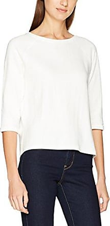 Tom Tailor Denim Open Back Sweat, Sudadera para Mujer, Blanco (Off White 8005), 38 (Talla del Fabricante: Medium)