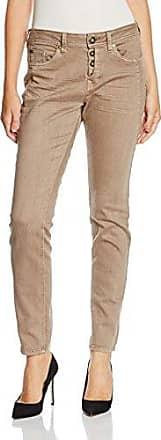 Tom Tailor Denim Lynn Antifit Laser Stripes, Pantalones Mujer, Marrón (Cosy Taupe Melange), W29/L34 (Talla del Fabricante: 29)