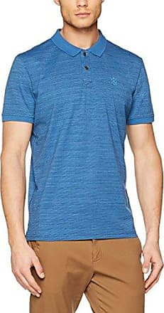 TOM TAILOR with Chest Print, Polo Homme, Bleu (After Dark Blue 6621), Small