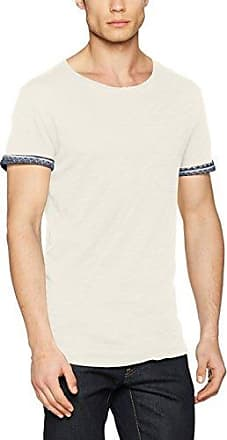 TOM TAILOR STRIPED TEE SOLID DETAILS - Camiseta print - white