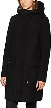 Coat W. Detachable Fur, Manteau Femme, Noir (Black 2999), MediumTom Tailor