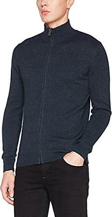 Snood Sweater out of NEP Yarn, Suéter para Hombre, Azul (Knitted Navy Melange 6905), XX-Large Tom Tailor
