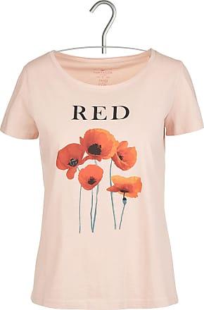 T-Shirt mit Siebdruck und Bommeln Tom Tailor