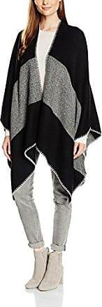 Tom Tailor cape with deco-stitching, estola Mujer, Negro (black), Talla única