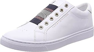 Tommy Hilfiger Corporate Flatform Sneaker, Sneakers Basses Femme, Blanc (White 100), 42 EU