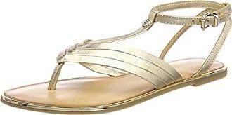Dame Badge Paillettes Sandale Plate T-spangen Hilfiger Denim