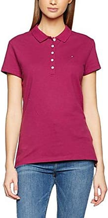 New Chiara Str Pq Polo SSPolo - Femme - Rouge (Apple Red) - FR : 42 (Taille fabricant : XL)Tommy Hilfiger