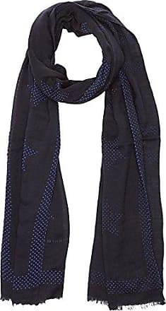Womens Rugby Stripe Scarf, Brown (Tommy Navy/Heather 902), (Manufacturer Size: One Size) Tommy Hilfiger