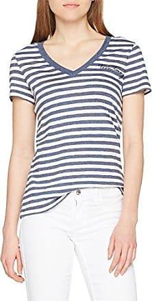 Tommy Hilfiger INJ Jeana V-NK tee SS, Camiseta sin Mangas para Mujer, Azul (Peacoat 443), 36 (Talla del Fabricante: X-Small)
