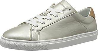 V1285enus 8z1, Sneakers Basses Femme, Argent (Dark Silver), 37 EUTommy Hilfiger