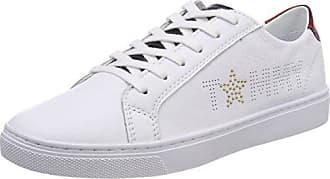 Tommy Hilfiger Iconic Kesha Slip On, Zapatillas para Mujer, Blanco (Whisper White 121), 37 EU