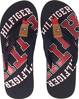 Tommy Hilfiger Damen Mirror Sparkle Beach Sandal Zehentrenner, Blau (Midnight 403), 41 EU