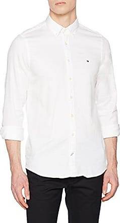 Tommy Hilfiger Two Tone Dobby STP Rf2, Chemise Casual Homme, (Posy Green 316), X-Large