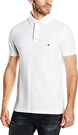 Tommy Hilfiger Core - Polo - Uni - Homme, Blanc (Classic White), Small
