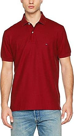 Hilfiger Regular, Polo para Hombre, Rojo (Rhubarb 675), Small Tommy Hilfiger