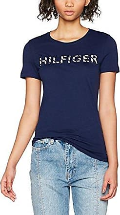 Tommy Hilfiger Hilfiger Lettering Tee SS, T-Shirt Femme, (Classic White 100), 42 (Taille Fabricant: X-Large)