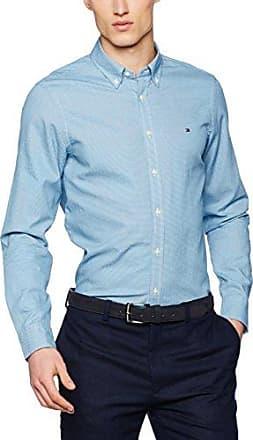 Mini Gingham SF2, Camisa para Hombre, Multicolor (Estate Blue/Cloud Htr), Small Tommy Hilfiger