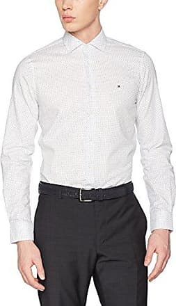 Tailored PRK SHTSLD99006 - Camisa, con manga larga, con cuello cuello clásico para hombre, color blau (429), talla M Tommy Hilfiger