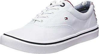 Tommy Hilfiger Tj Wedge Sequin Sneaker, Zapatillas para Mujer, Blanco (White 100), 42 EU