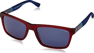 Unisex Adults TH 1426/S 9W Sunglasses, Multicolor (Blue And Orange), 48 Tommy Hilfiger