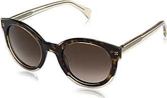 Unisex Adults TH 1243/S Sunglasses, Black (Trtnblue Yllw), 56 Tommy Hilfiger