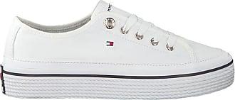 Tommy Hilfiger Damen Corporate Flatform Sneaker, Weiß (White 100), 41 EU