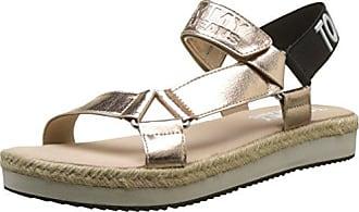 Hilfiger Denim Damen Metallic Flat Thong Sandal T-Spangen, Pink (Rose Gold 638), 41 EU