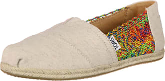 Deconstructed Alpargata Nvlty Txtl W chaussures noir blanc rayéToms