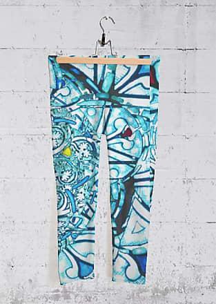 Yoga Capri Pants - RUBINO STAINED GLASS BLUE by Tony Rubino Tony Rubino