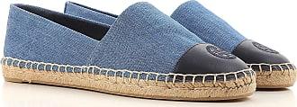 Slip On Schuh für Damen Günstig im Sale, Denim Blau, Denim Gewebe, 2017, 37 Tory Burch