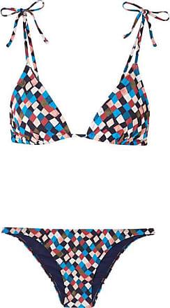Tory Burch Bikini Triangle Imprimé Geo - Bleu clair