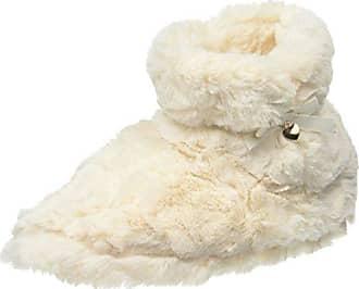 Totes Ladies Textured Fur Mule Slipper, Zapatillas de Estar por Casa para Mujer, Marfil (Cream), 36/37 EU