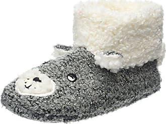 Totes Ladies Textured Fur Mule Slipper, Zapatillas de Estar por Casa para Mujer, Gris (Grey Stripe), 40/41 EU