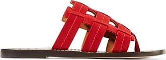 Sandales En Daim Cage - RougeTrademark