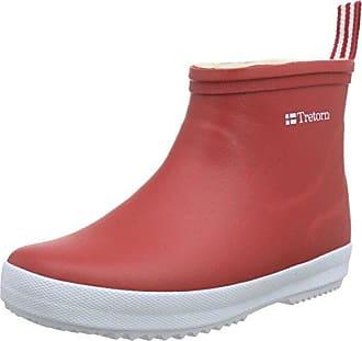 TretornWings Winter Low - Botas de Goma con Forro y Caña Corta Unisex Adulto, Color Rojo, Talla 34