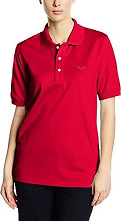 Trigema Damen Polo-Shirt Piqué-Qualität-Polo Mujer, Red - Rot (Sangria 89), 50 (Talla del Fabricante: XL)