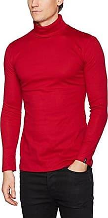Trigema Haut de Sport - Taille Normale - Col roulé - Manches Longues Homme - Rouge - Large