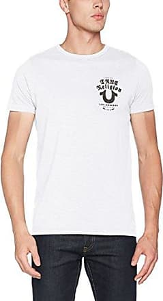 Crew Shirt Worldwide, Camiseta para Hombre, Blanco (White 1700), M True Religion