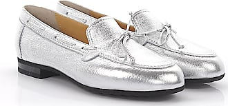 Flat shoes deerskin smooth leather Decorative lacing silver Truman's