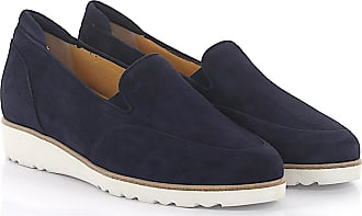 Flat shoes calfskin suede blue Truman's