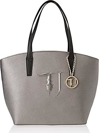 Damen Levanto Ecosaffiano Shopping Bag Schultertasche, Weiß (White), 41x26x16 centimeters Trussardi